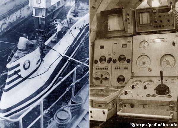 Глубоководный аппарат АС-6. Общий вид. Пост управления