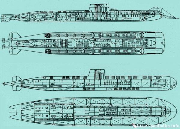 Десантная ПЛА проект 748. Атомный подводный танкер проект 681