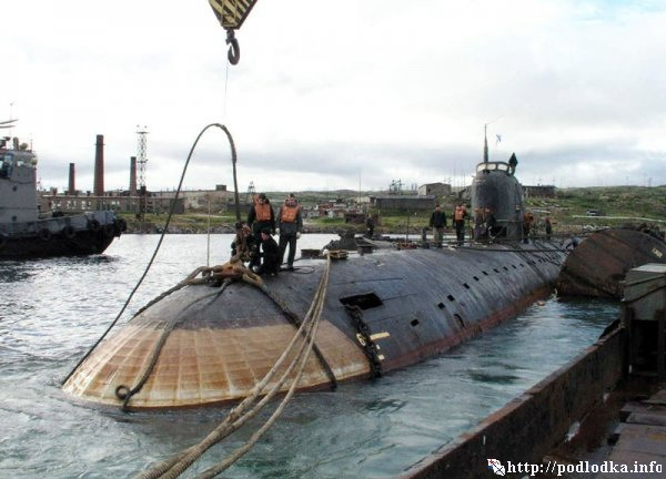Подводная лодка проекта 627 в базе