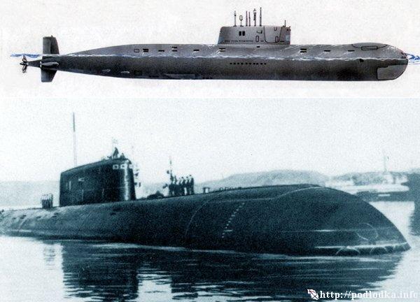 Атомная подводная лодка проекта 685 в базе