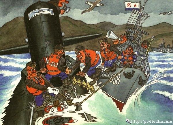Высадка на подводную лодку
