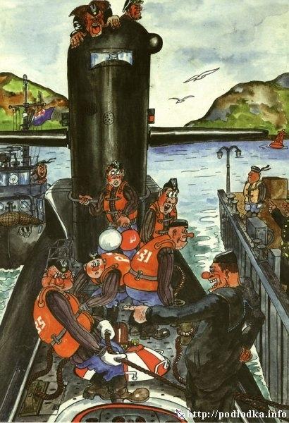 Швартовка подводной лодки
