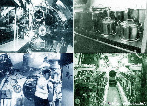 Внутри подводной лодки типа