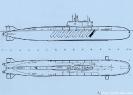 Схема подводного ракетоносца проекта 949 А