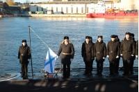 Фото Алексея Акентьева: Поднятие Андреевского флага на подлодке Краснодар