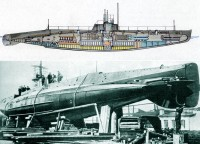 Подводная лодка типа АГ на стапеле
