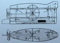 Схема подводной лодки В. Бауэра