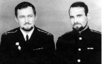 Командир реакторного отсека Домбровский Влад и его друг (справа) Гусев Станислав - погиб на К-8