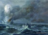 Подводная лодка Щ-311 топит финский транспорт